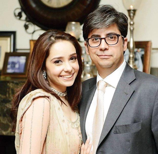 Juggun Kazim with husband