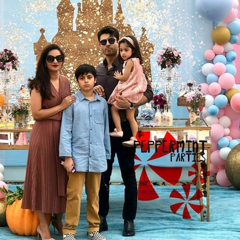 Fawad Khan Latest Clicks with his Wife and Kids