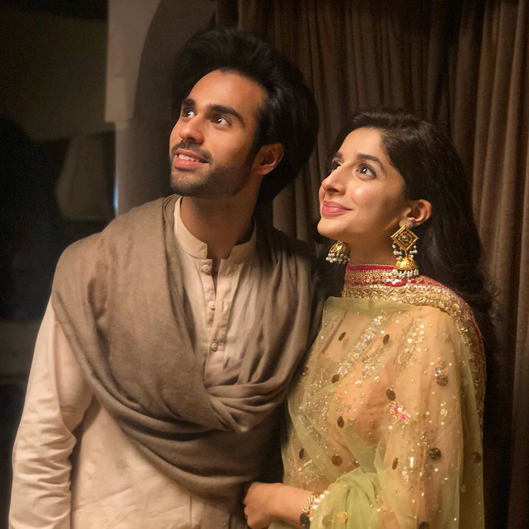 Actors Mawra and Ameer Gilani on the Sets of their Drama Sabaat