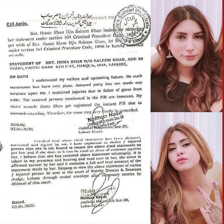 Uzma Khan & Huma Khan Take Back Their FIR Against Amna Usman