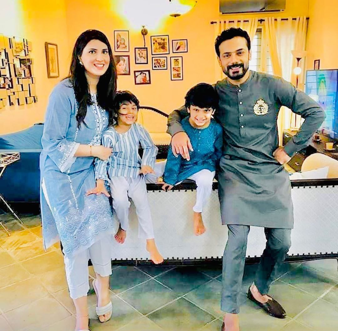 Zahid Ahmed with his Wife and Kids - Latest Pictures