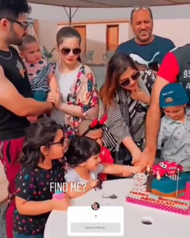 Aiman Khan and Muneeb Latest Pictures with Amal