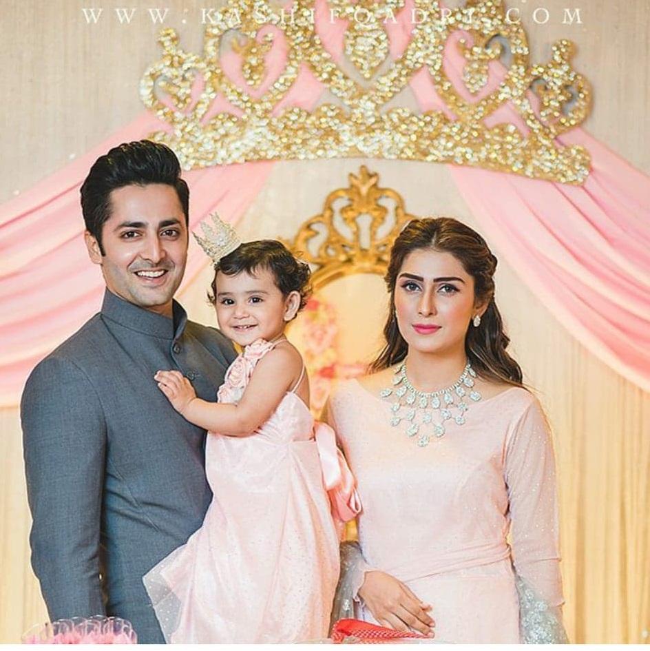 Ayeza Khan And Danish Taimoor Considers Daughter Hoorain Their Lucky Charm