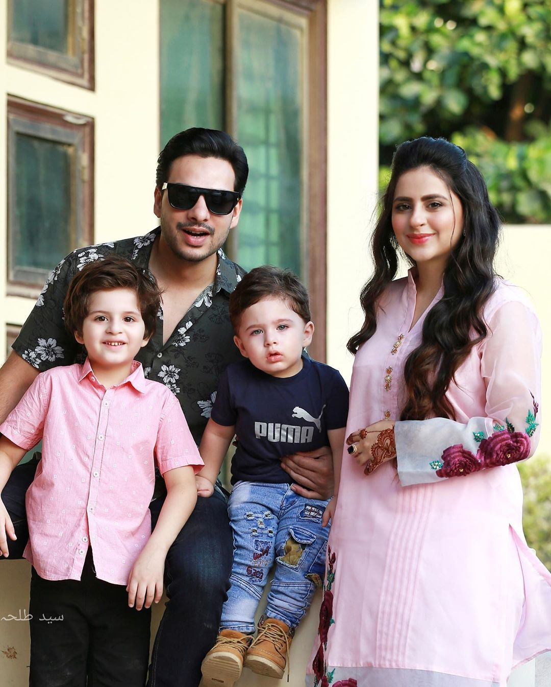 Fatima Effendi and Kunwar Arsalan Latest Clicks with Sons