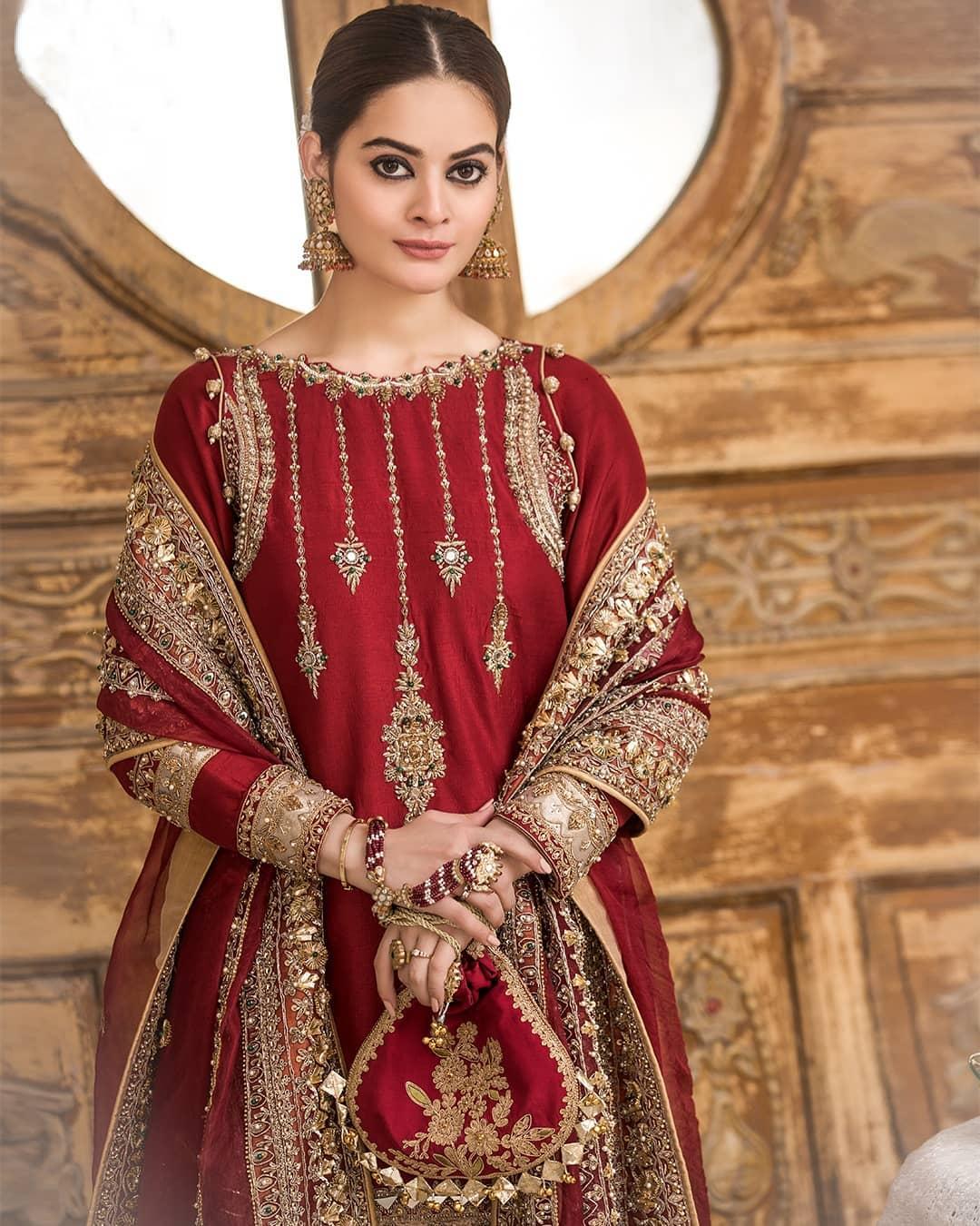 Beautiful Minal Khan Latest Bridal Dresses Photo Shoot