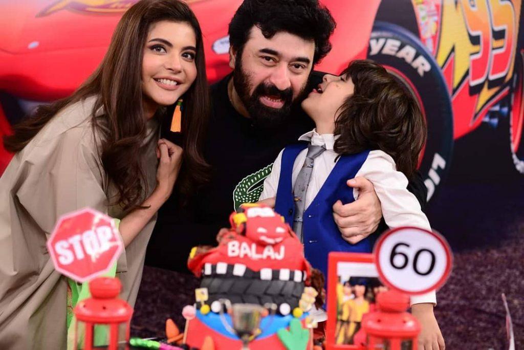 Nida Yasir Nawaz Celebrated Their Son Balaaj Birthday 5