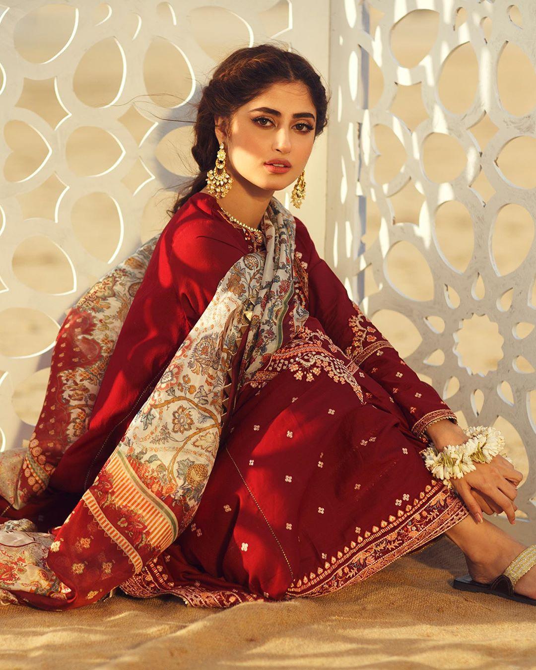 Sajal Ali Latest Beautiful Photo Shoot for Qalamkar