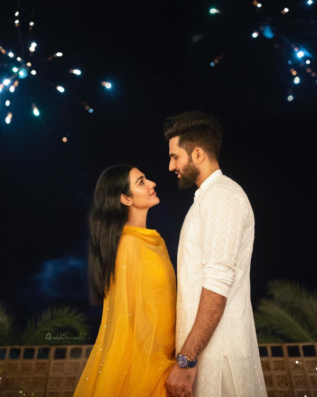 Sarah Khan and Falak Shabbir Beautiful Clicks from Their Mehndi
