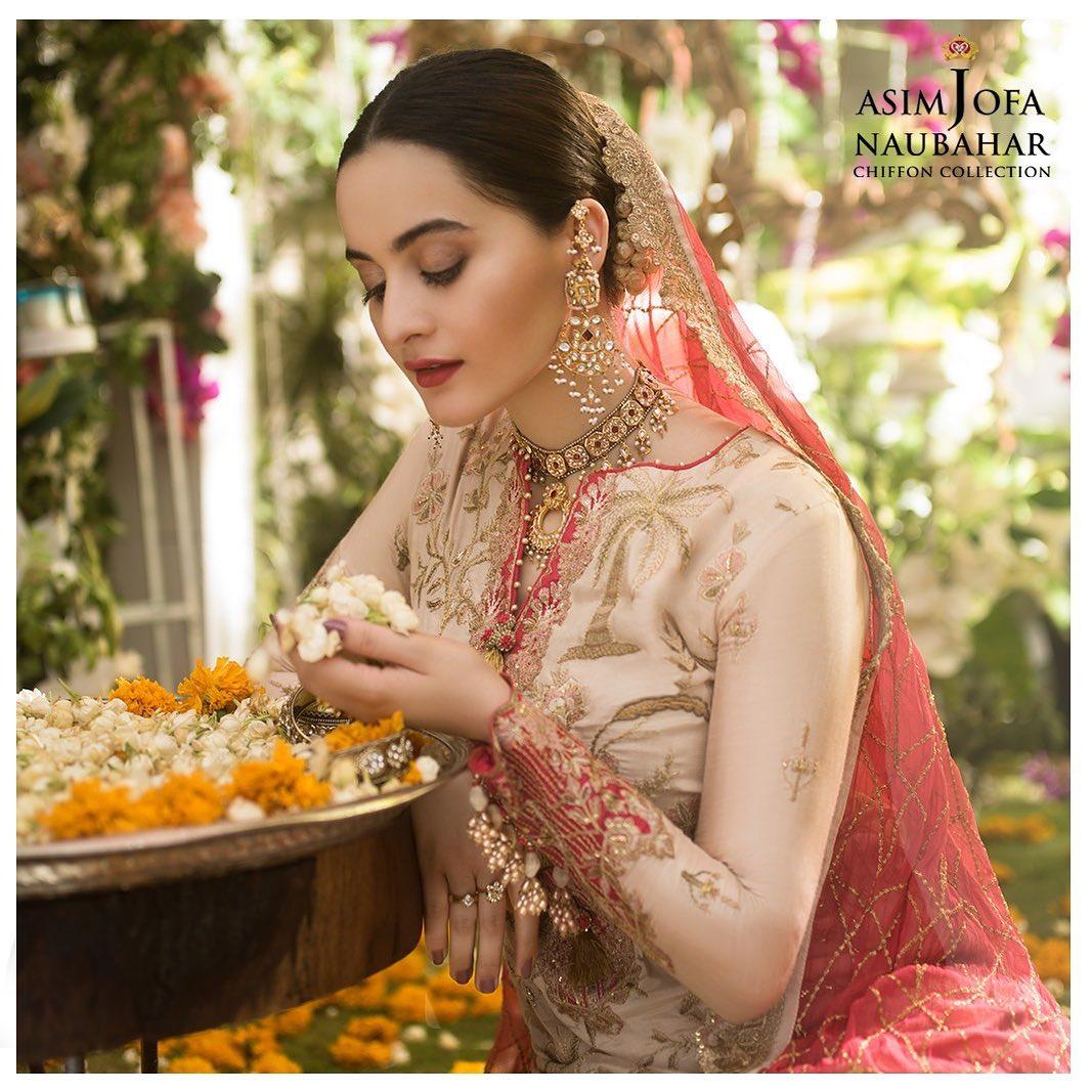 Aiman Khan Latest Beautiful Photo Shoot for Asim Jofa