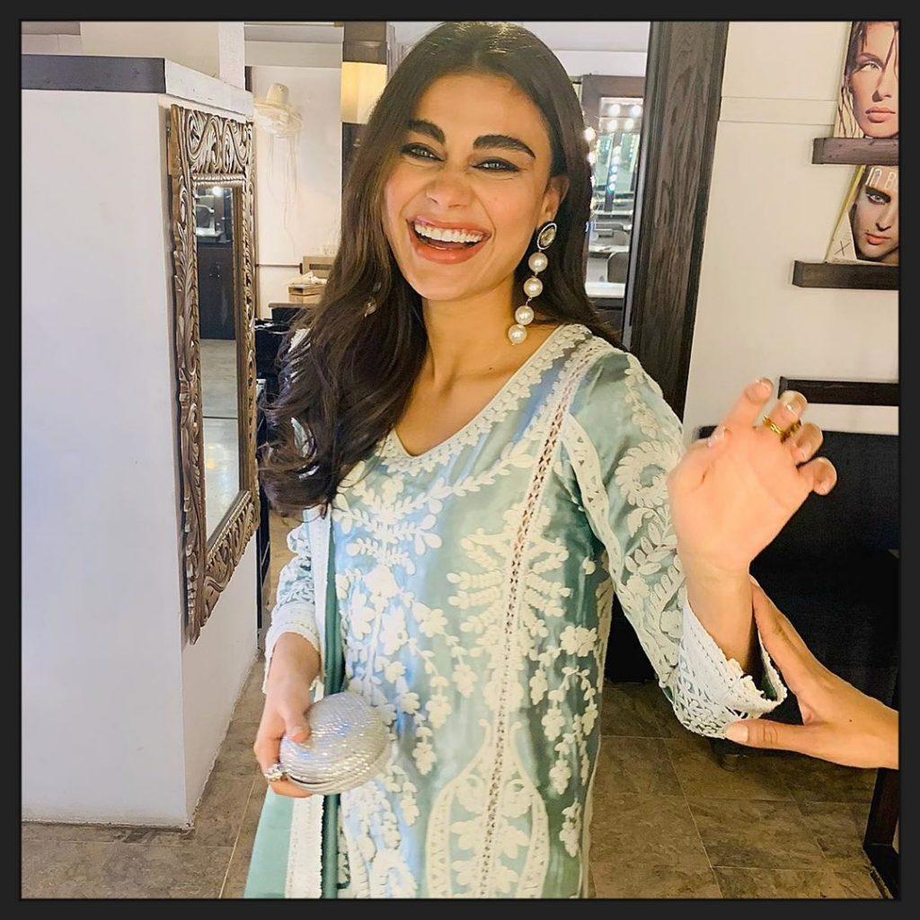 Beautiful New Pictures of Sadaf Shahroz Sabzwari in Eastern Dresses