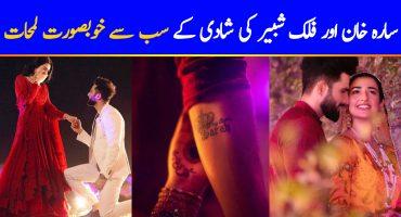 Sweet Moments From Sarah Khan and Falak Shabir Wedding