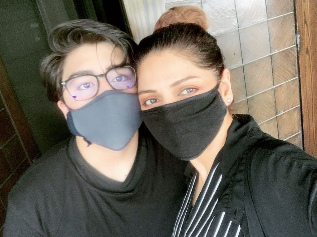 Adorable Pictures Of Hadiqa Kiani With Her Son