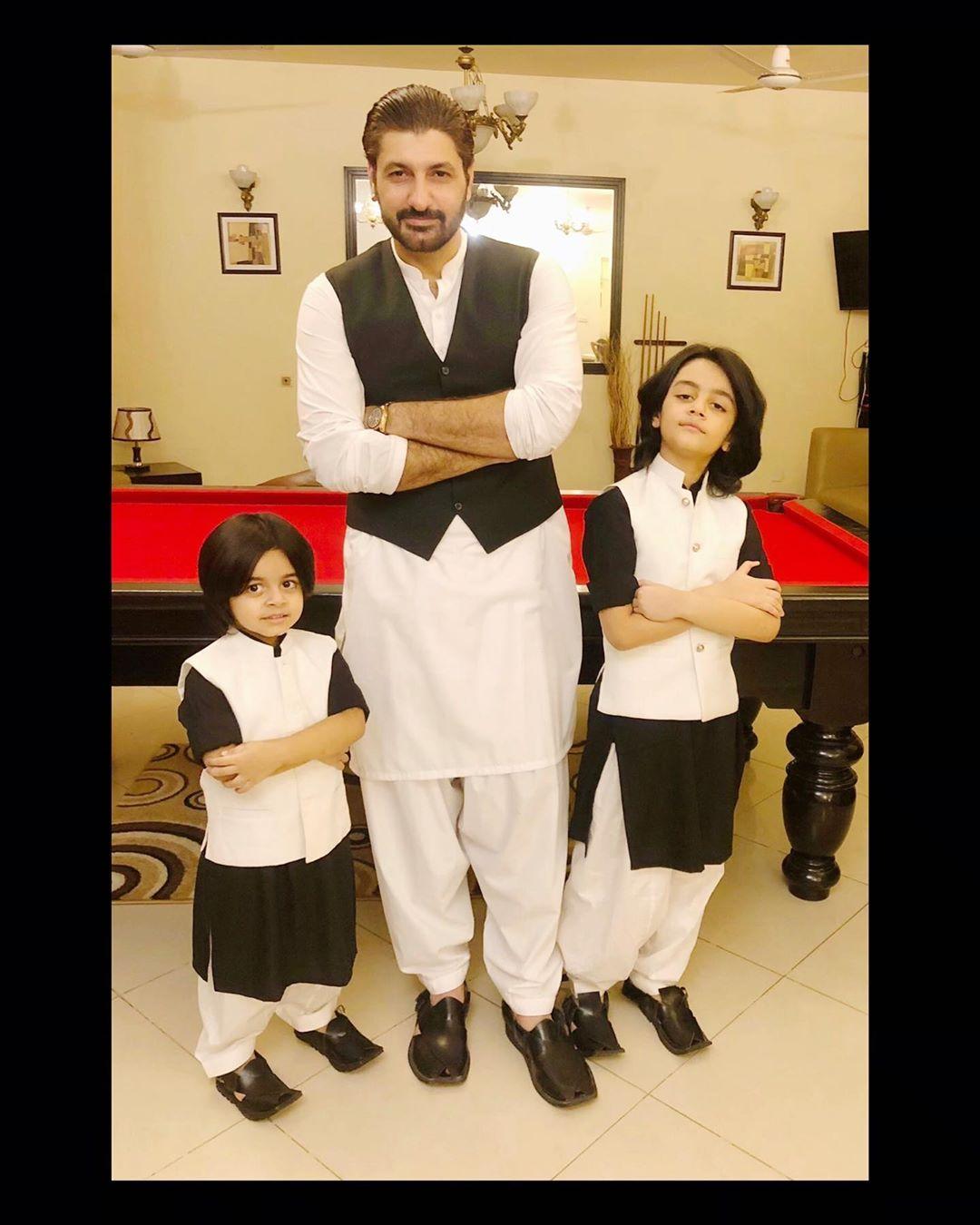Syed Jibran with Wife Afifa Jibran and Kids on Eid