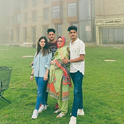 Aiman and Minal are Enjoying in Swat with their Family