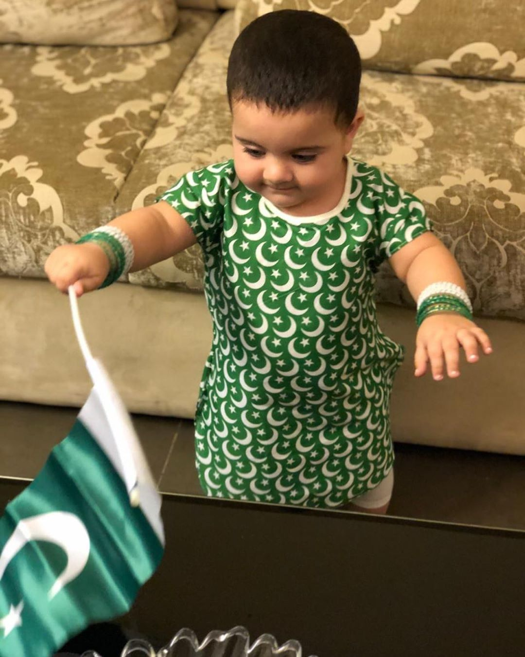 Aiman Khan Daughter Amal Muneeb Celebrating her First Independence Day