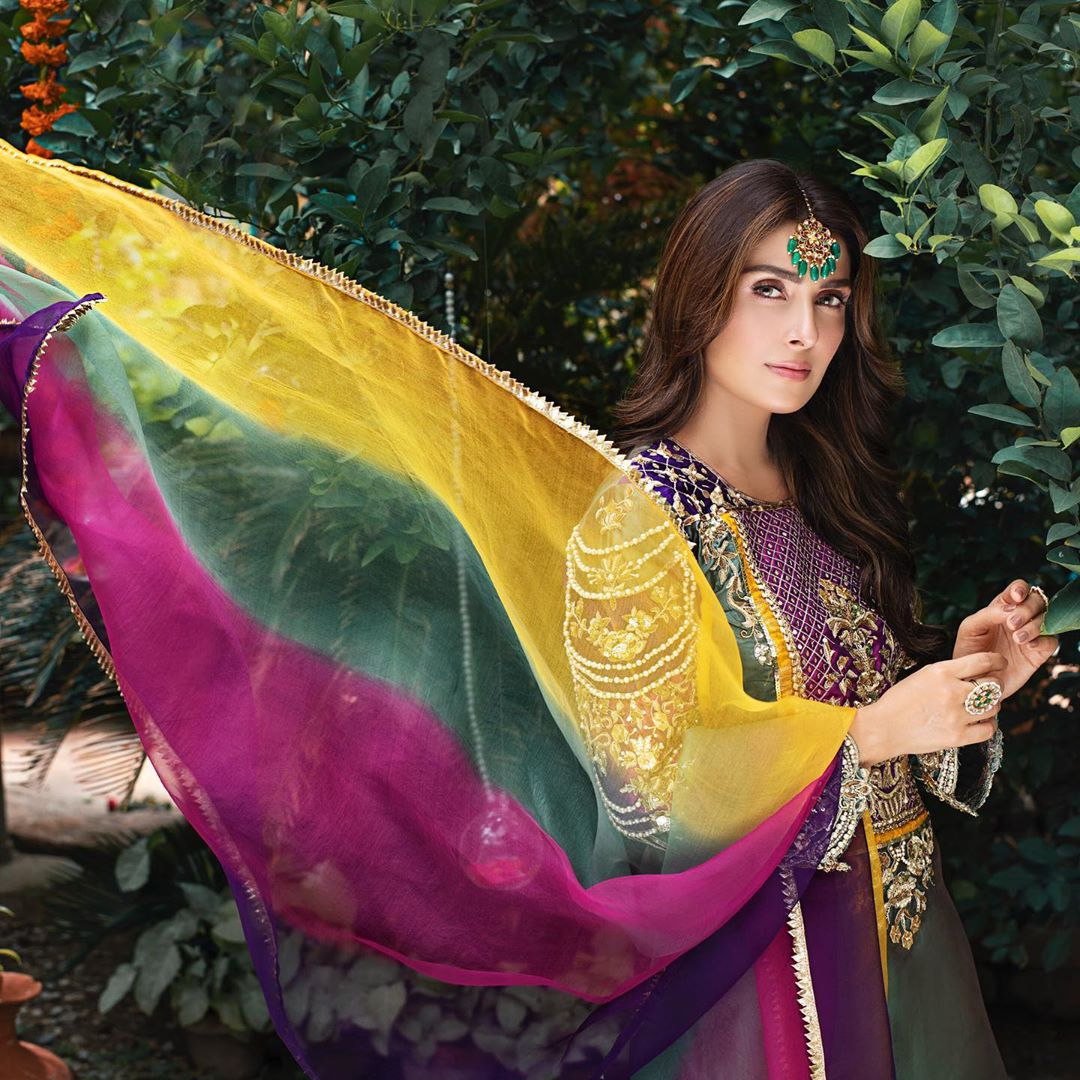 Ayeza Khan Looking Gorgeous in Latest Shoot for RJ's Pret