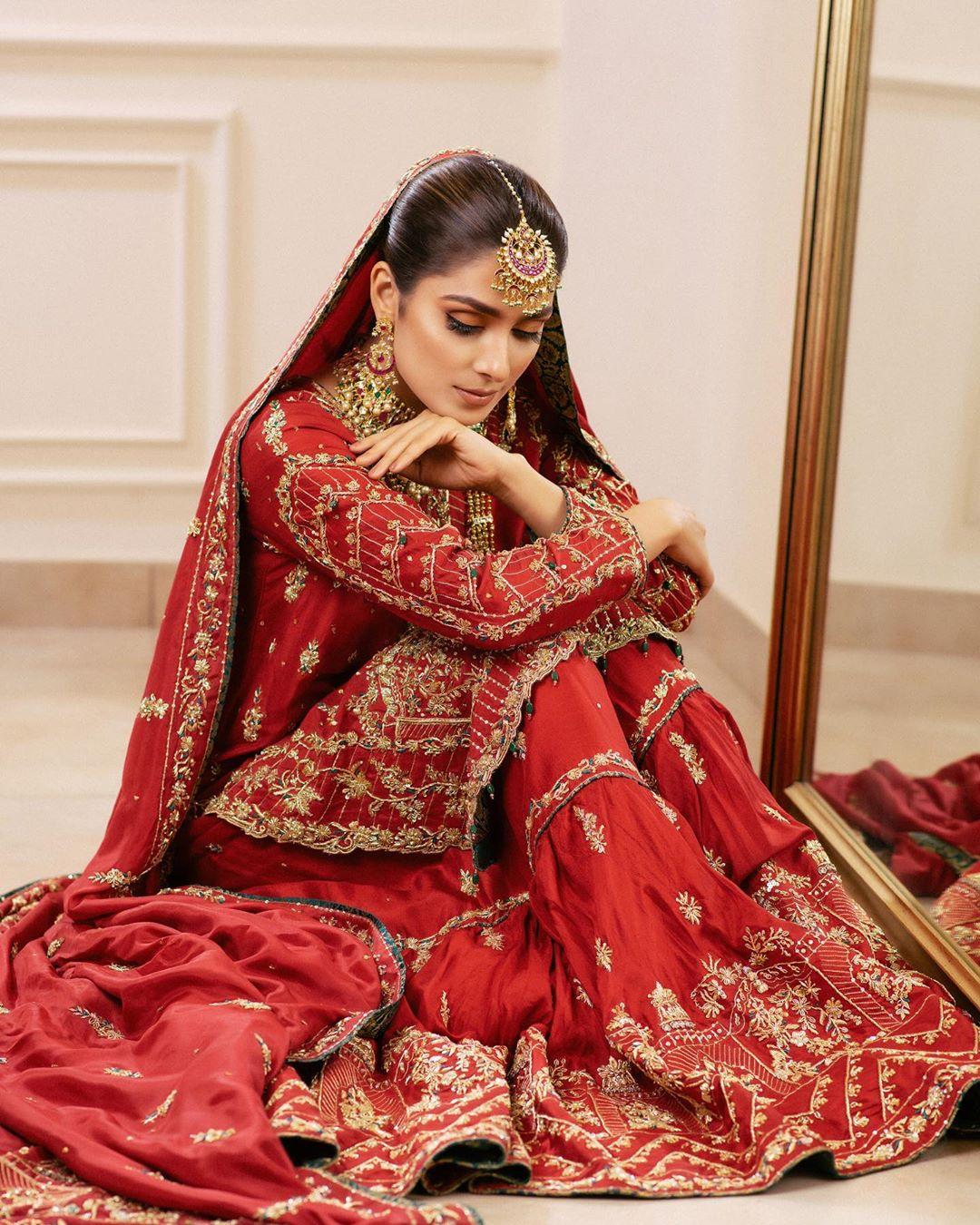 "Beautiful Ayeza Khan Bridal Shoot for Bridal Couture ""Zehnaseeb"" by Zaaviay"