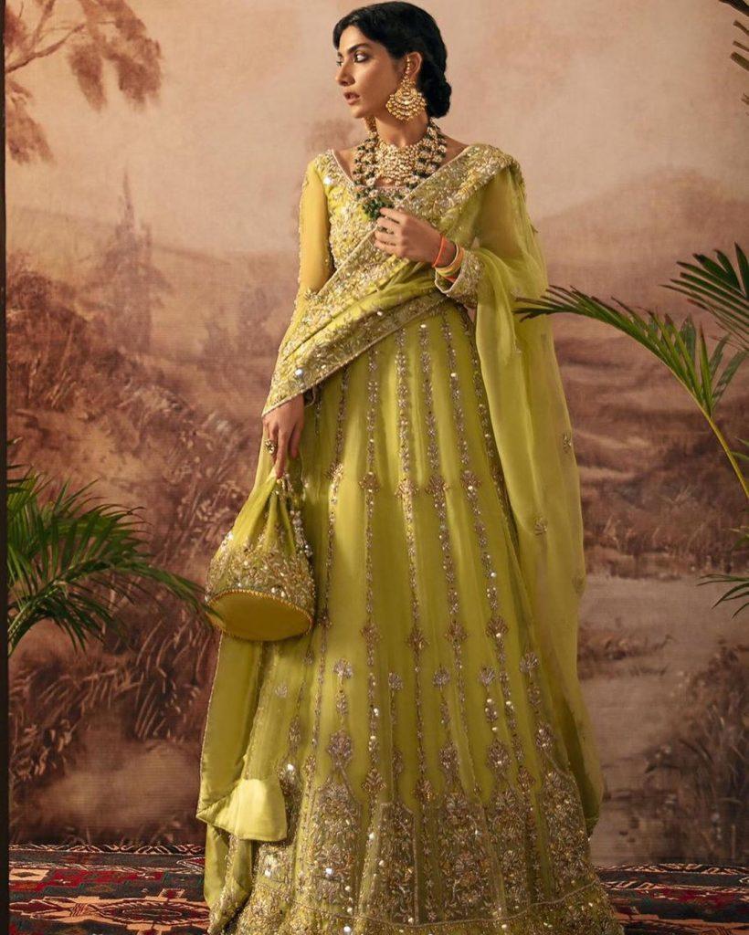 Eman Suleman In Majestic Bridal Dresses By Kanwal Malik