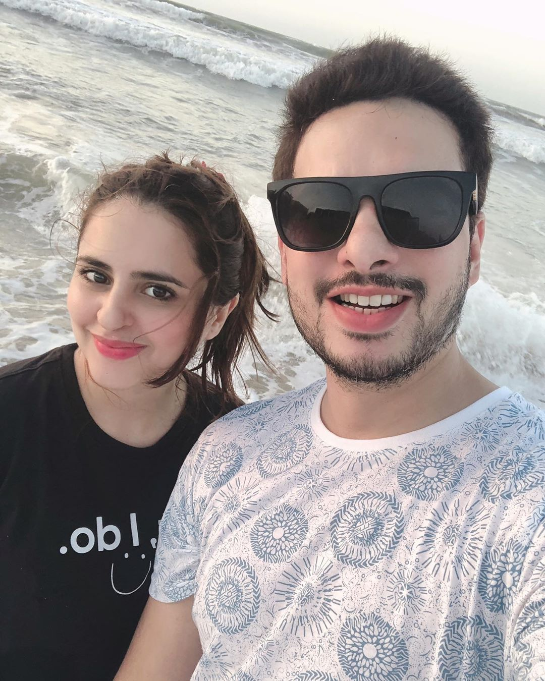 Fatima Effendi and Kanwar Arsalan Pictures from Beach