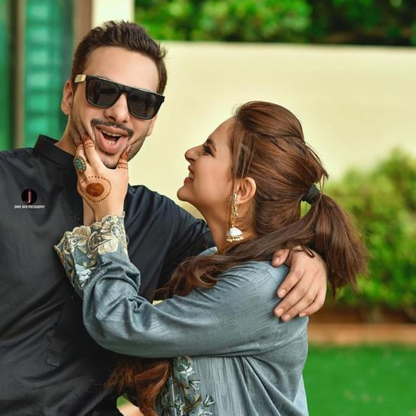 Fatima Effendi and Kanwar Arsalan Independence Day Pictures with Kids