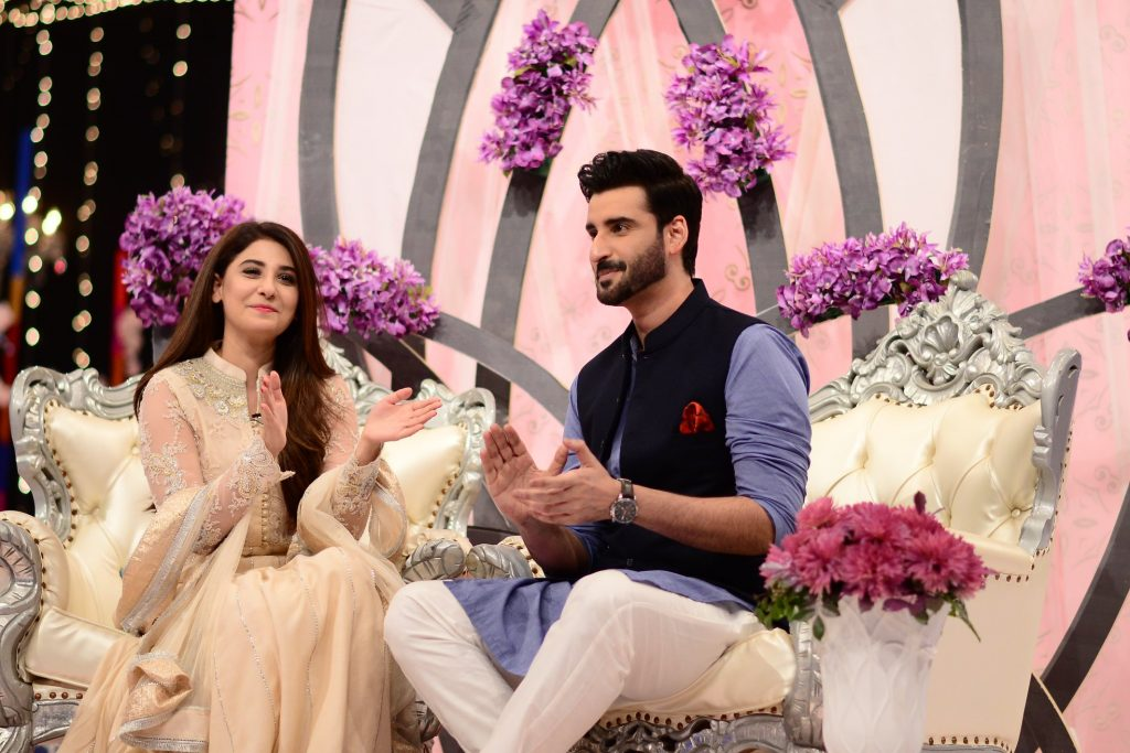 Hina Altaf and Agha Ali Pictures From Good Morning Pakistan 20