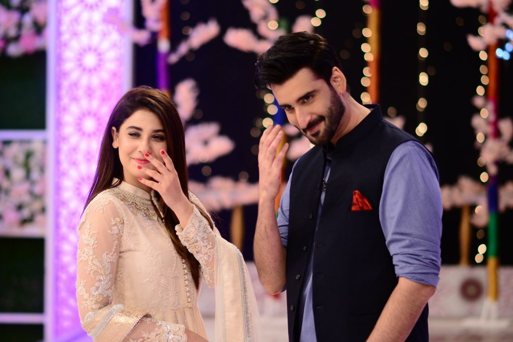 Hina Altaf and Agha Ali Pictures From Good Morning Pakistan 23
