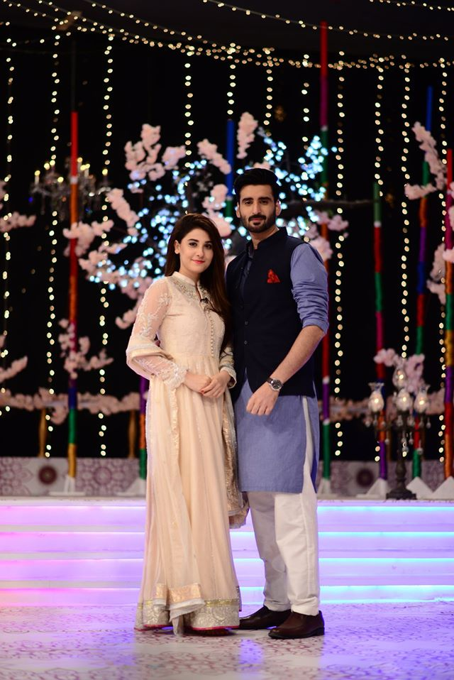 Hina Altaf and Agha Ali Pictures From Good Morning Pakistan 24