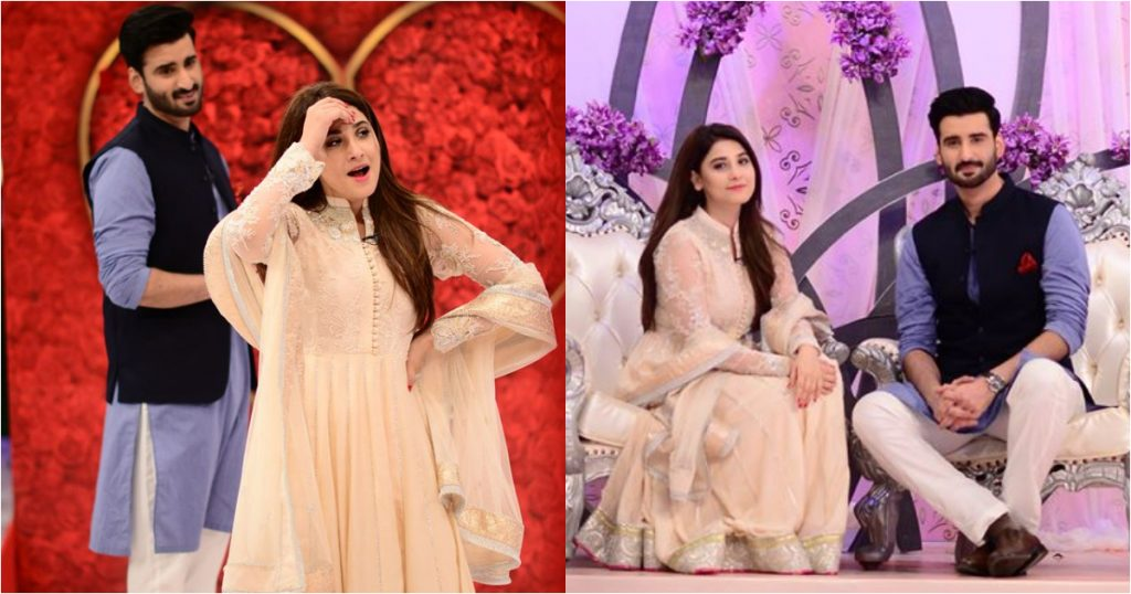 Hina Altaf and Agha Ali Pictures From Good Morning Pakistan 45
