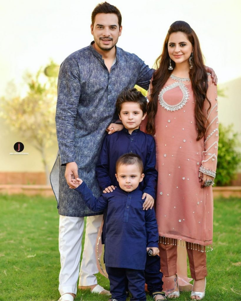 Fatima Effendi And Kanwar Arsalan Celebrating Eid-ul-Adha