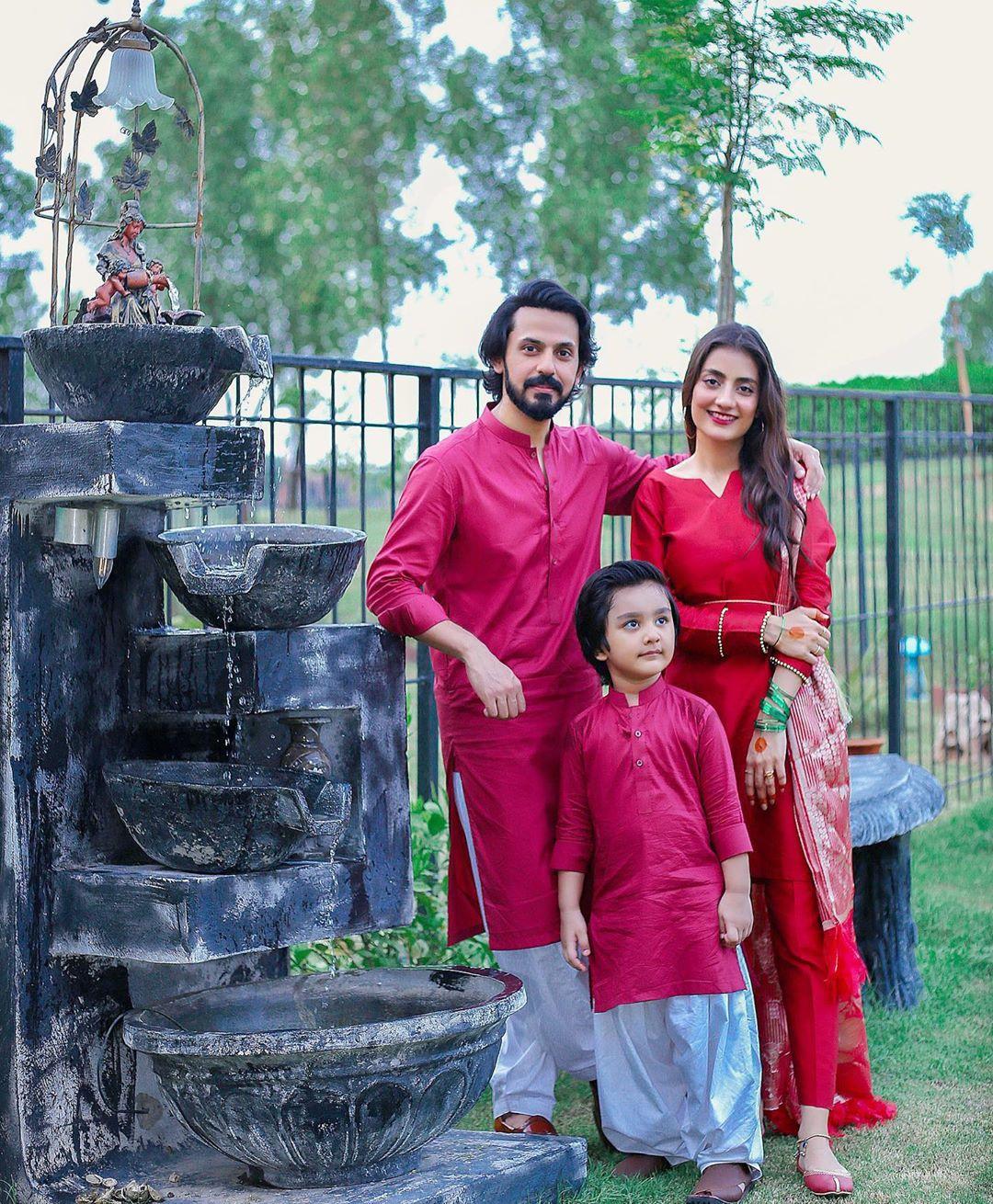 Clicks Of Bilal Qureshi And Uroosa Bilal Celebrating Eid-ul-Adha