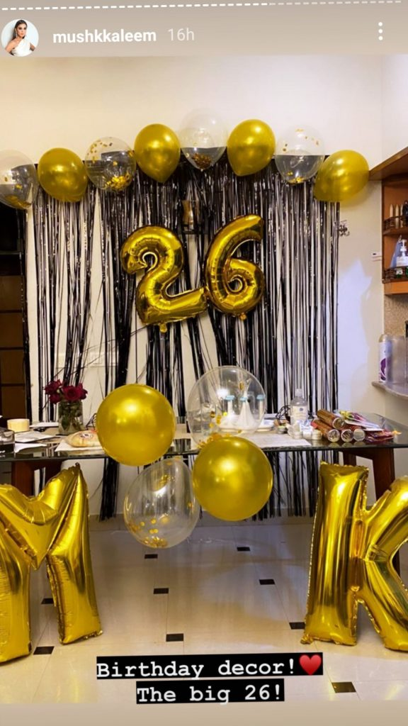 Model Mushk Kaleem Birthday Celebrations