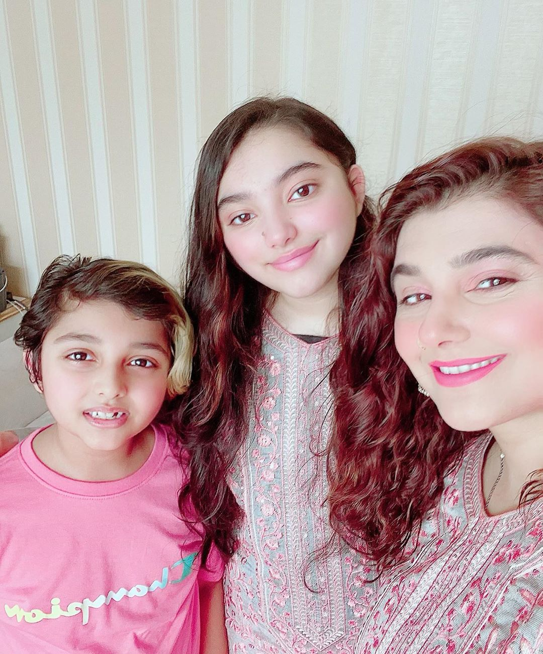 Javeria and Saud Eid Pictures with Family