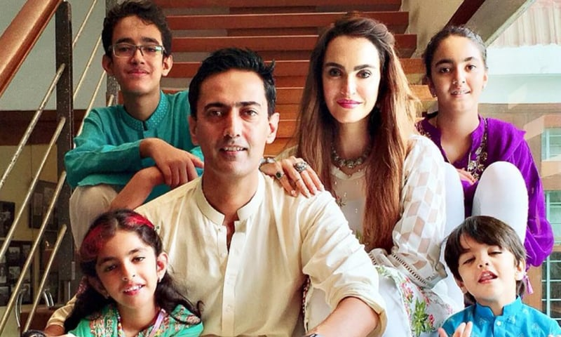 Nadia Hussain Latest Pictures with her Family
