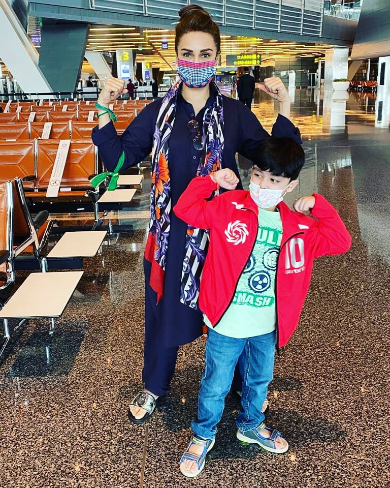 Actress Reema Khan Shared Beautiful Clicks with her Son