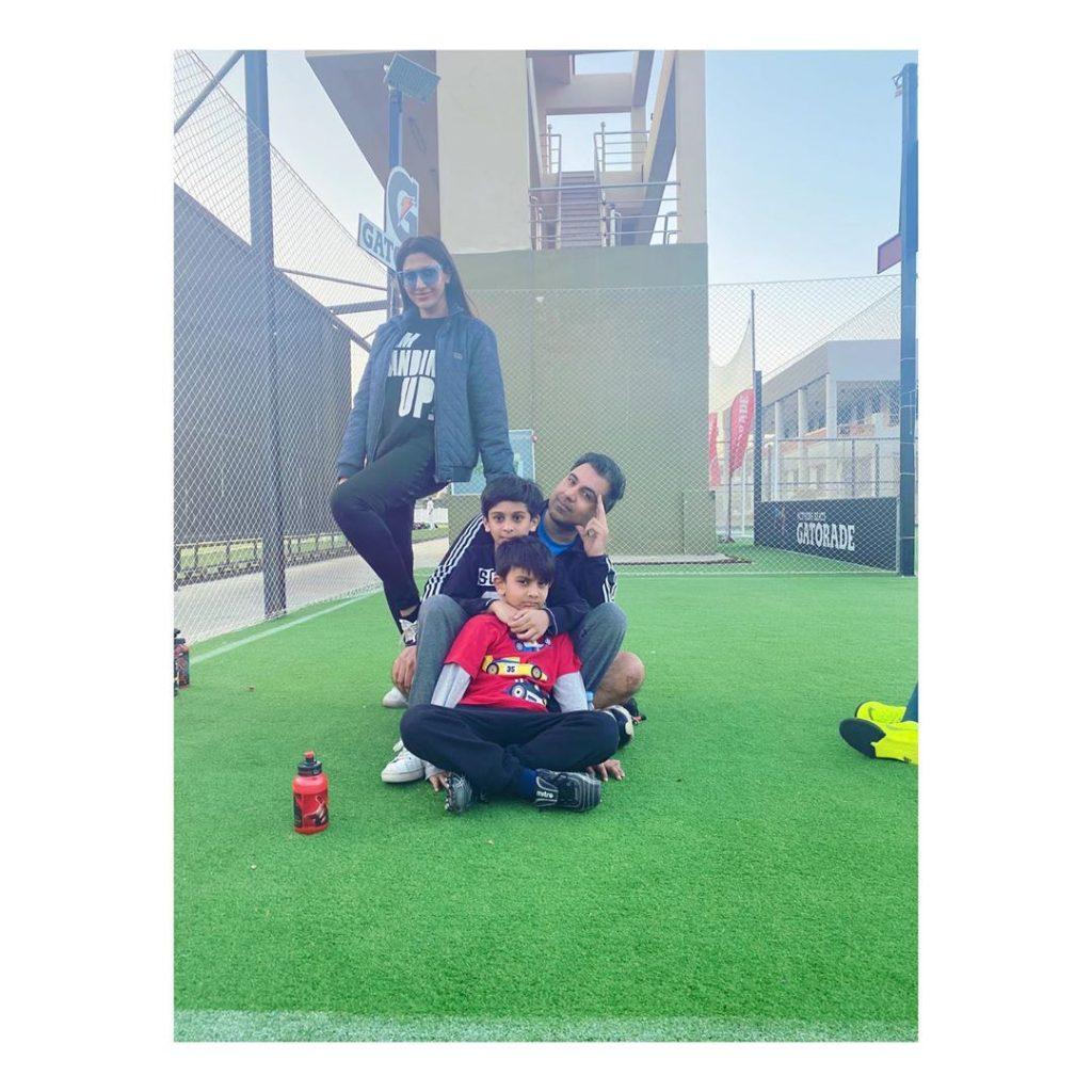 Sana Fakhar Enjoys Swimming With Kids
