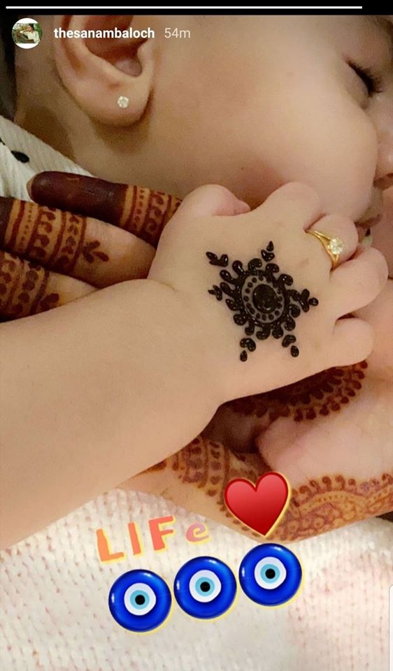 Sanam Baloch Shared Adorable Pictures of Her Baby Girl