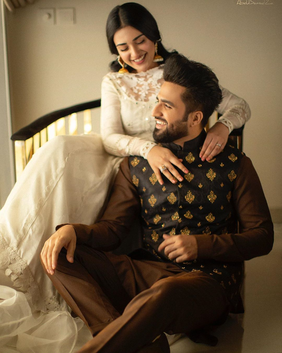 Newly Wed Couple Sarah Khan and Falak Shabbir Eid Pictures