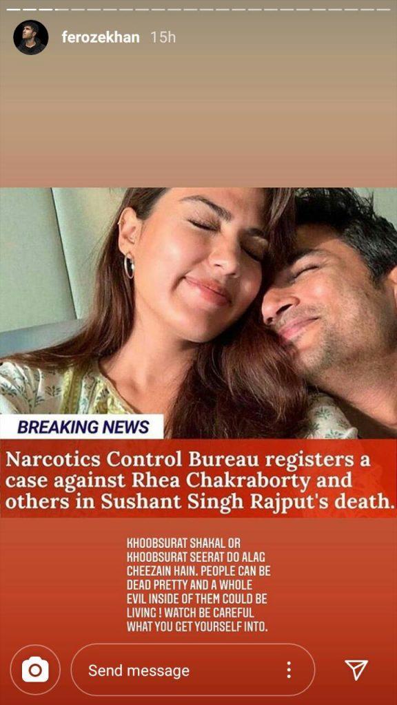 Feroze Khan Shares His Stance On Sushant Singh Rajput's Case