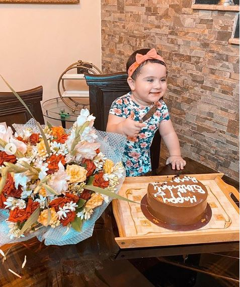 Aiman Khan Celebrates First Birthday Of Her Daughter Amal