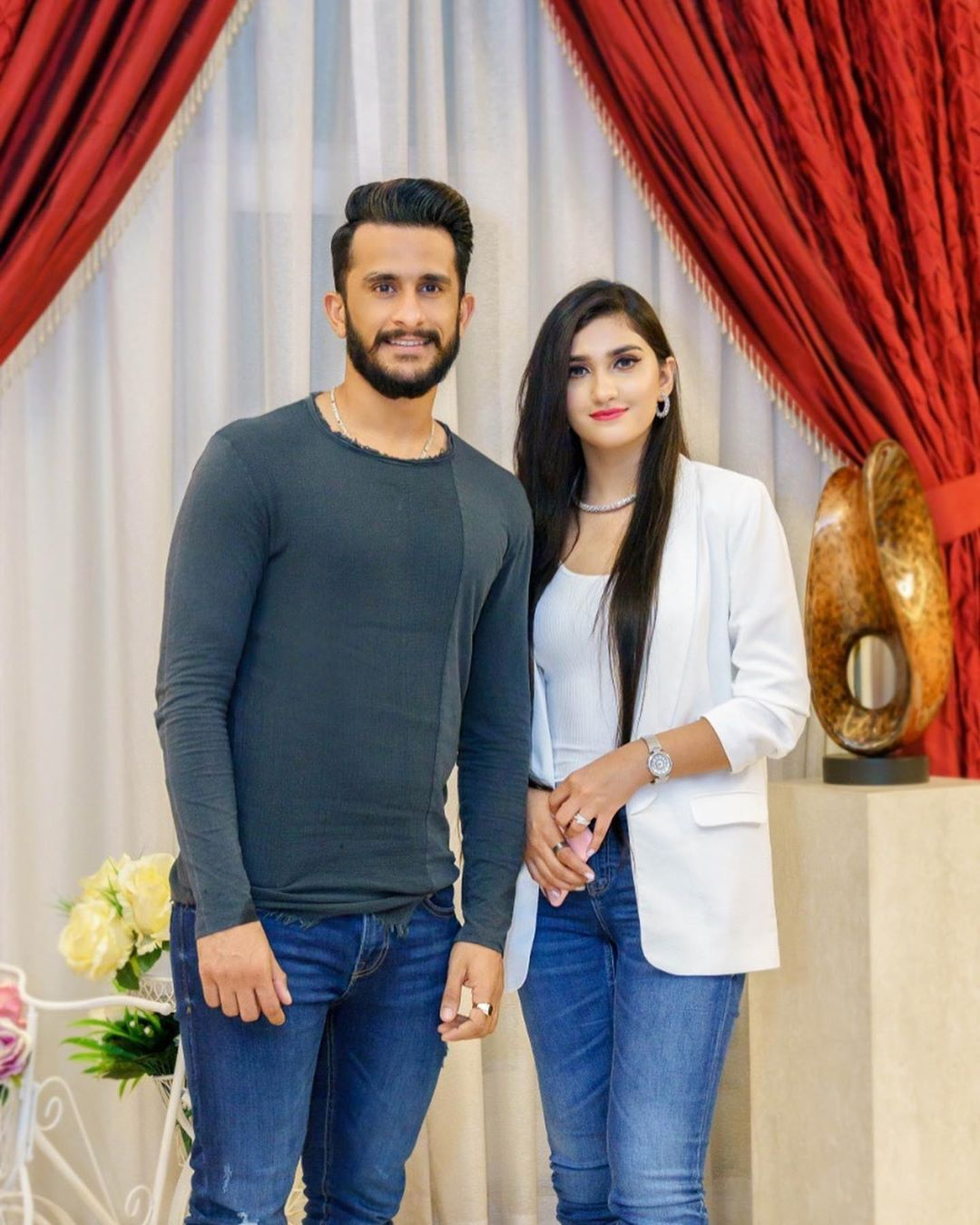 Cricketer Hassan Ali with his Wife Samiya Khan - New Pictures