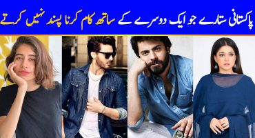 Pakistani Actors Who Did Not Like Working Together