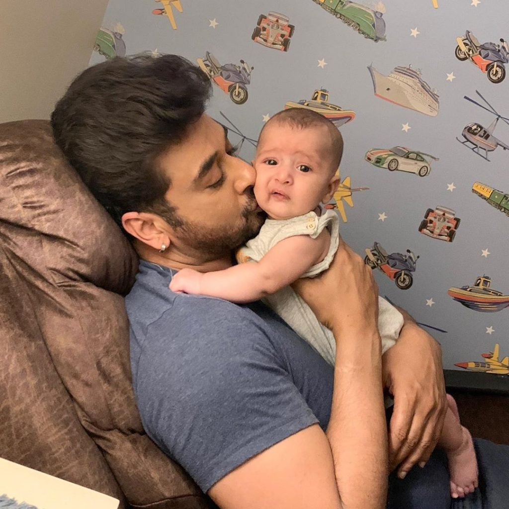 Adorable Latest Pictures of Faisal Qureshi's Little Son