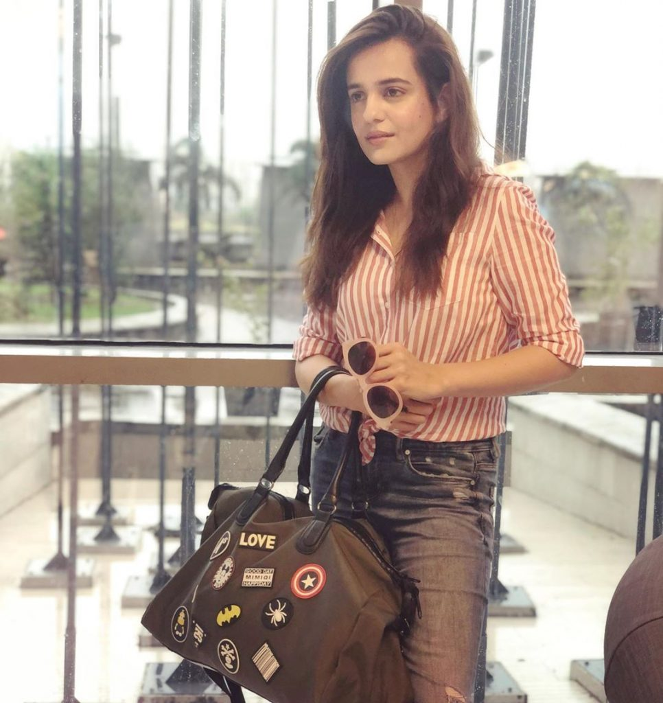 Sizzling Hot Pictures of Sumbul Iqbal in Western Dresses