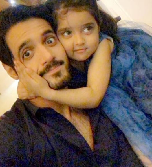 Latest Pictures Of Actor Wahaj Ali With His Daughter Amirah
