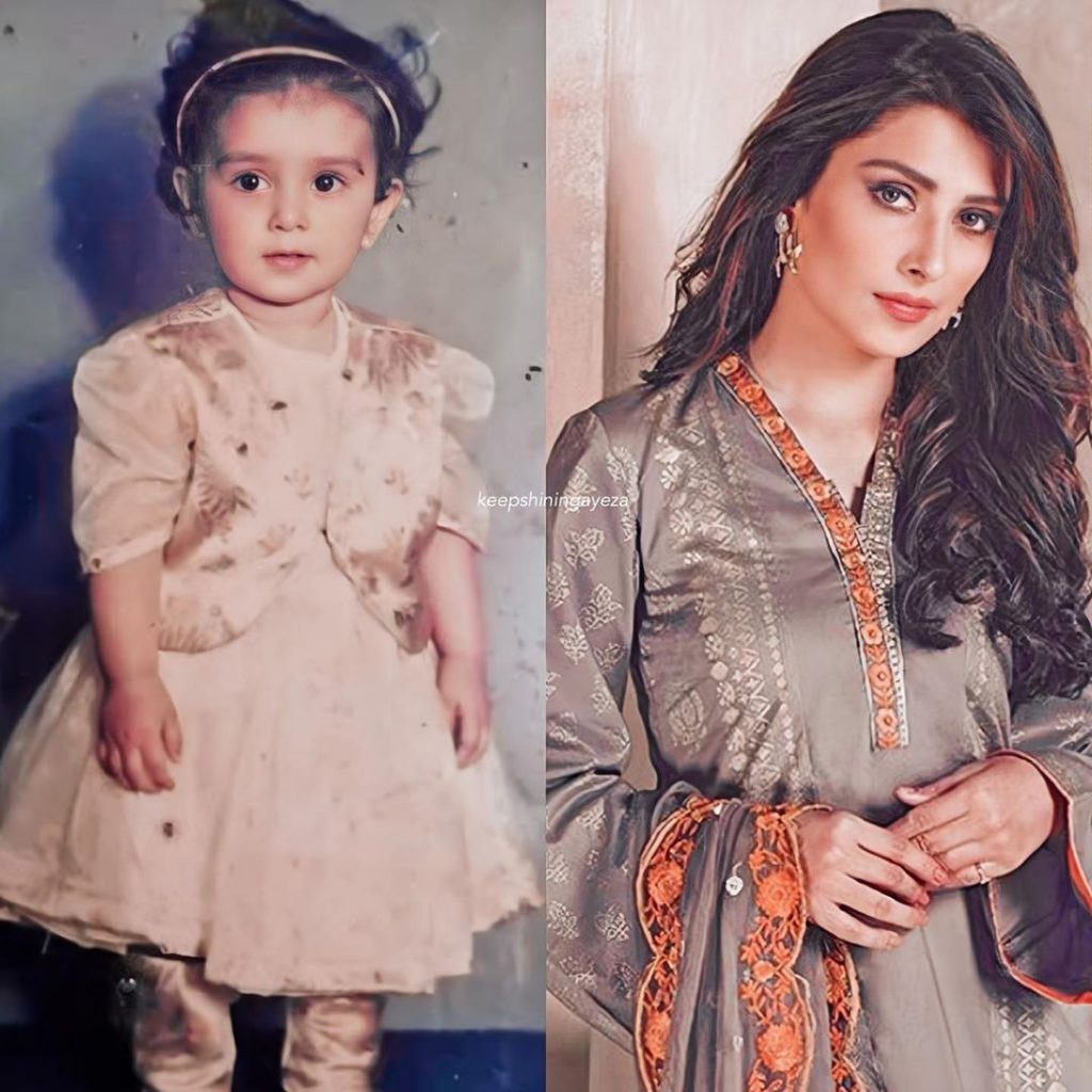 Childhood Pictures Of Ayeza Khan
