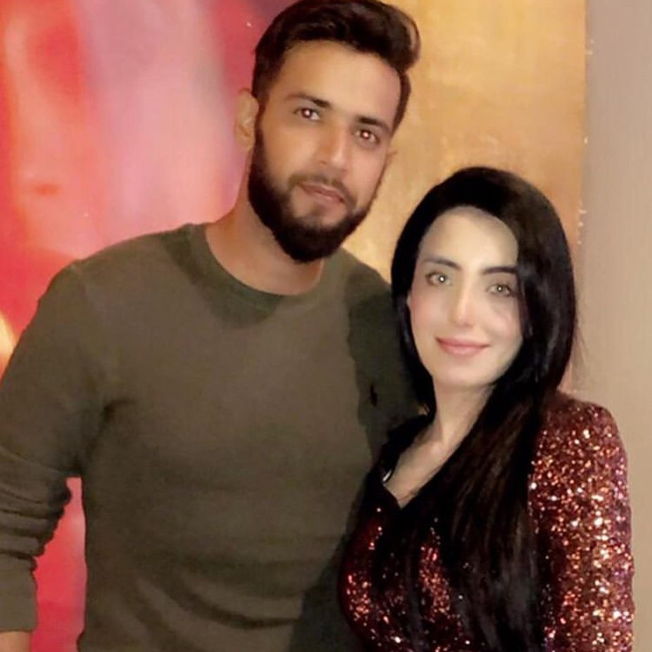 Imad Wasim Celebrating Wife Sannia Ashfaq's Birthday