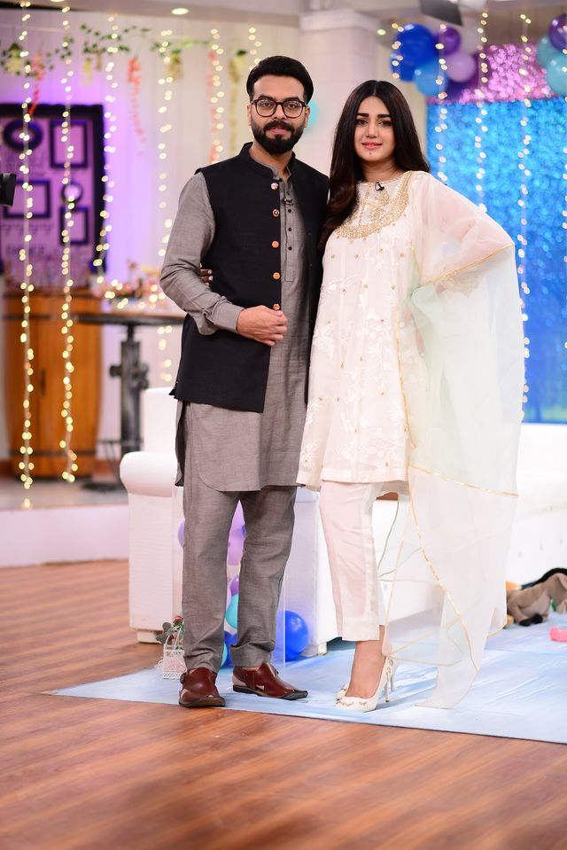 Anum Fayaz Son First Birthday Celebration in Nida Yasir Morning Show