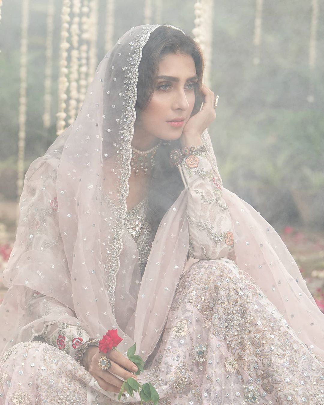 Ayeza Khan is Looking Gorgeous in Her Latest Bridal Shoot for Annus Abrar