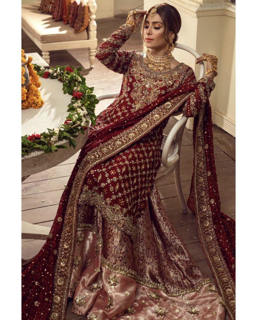 Stunning Bridal Photoshoot Of Ayeza Khan