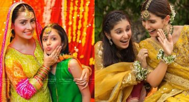 Ayeza Khan With Her Little Sister Exclusive Pictures 17